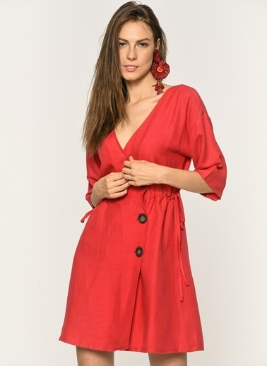 Loves You Elbise Kırmızı